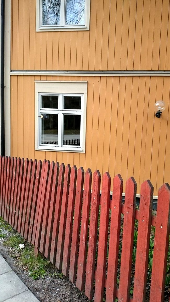 This is actually a Hostel at Zinkensdamm Södermalm Building House Red Fence Windows