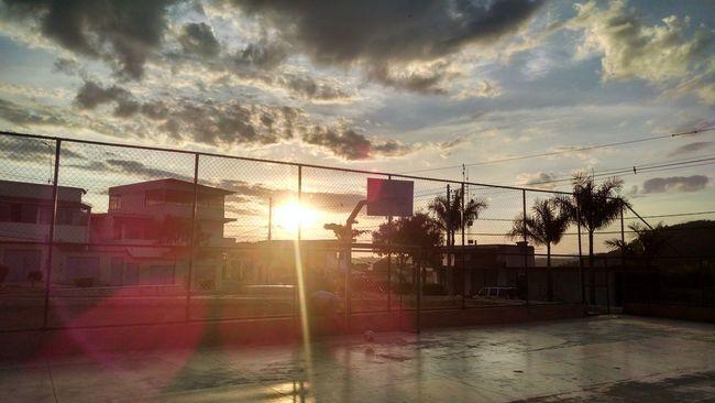 Sunset Pôr Do Sol. Quadra