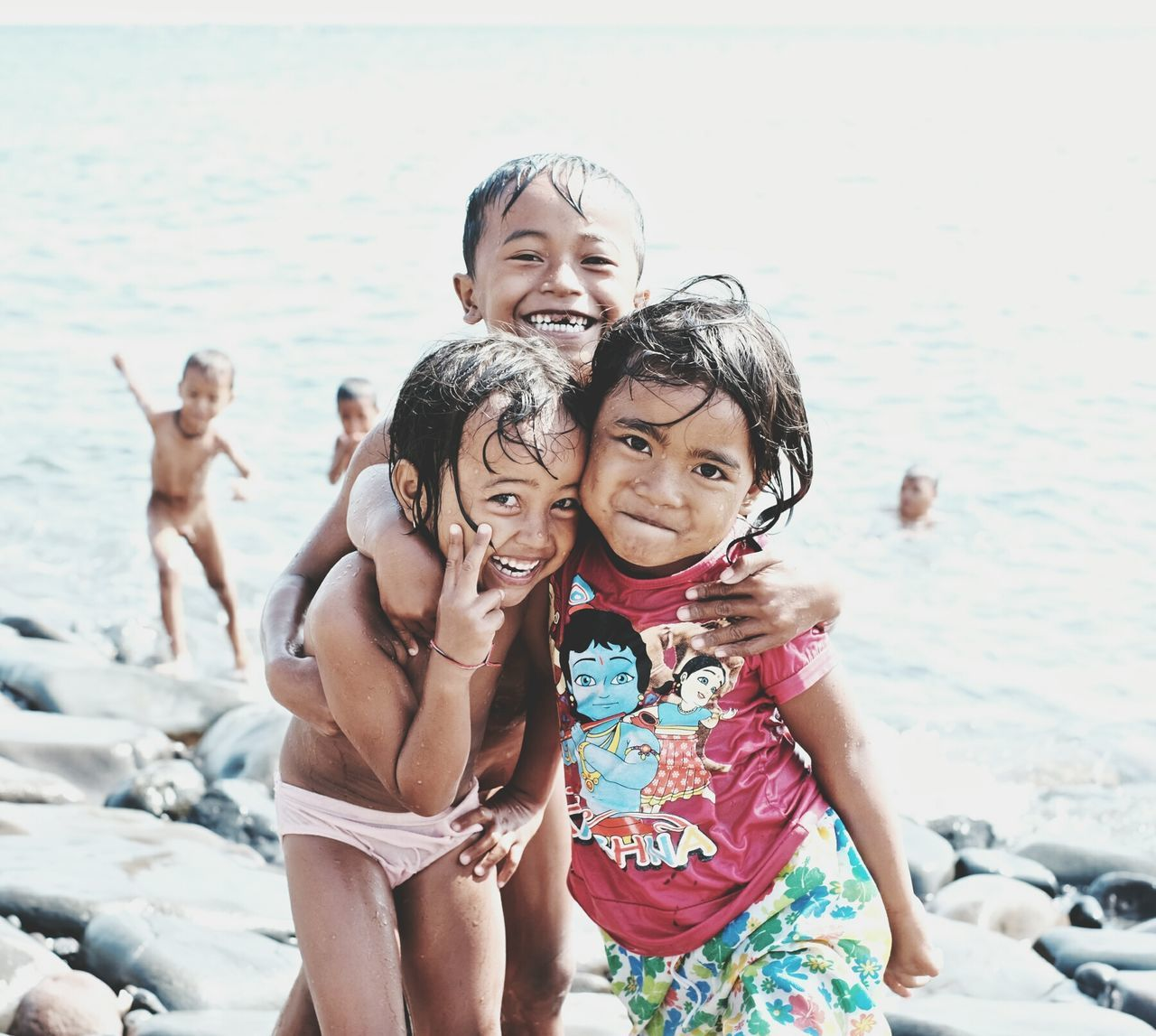 Children of the Sea - Children from a small fishing village on the far north coast of Bali, Indonesia. People Of The Oceans Travel Photography Travel Destinations Children Playing EyeEm Travel Photography