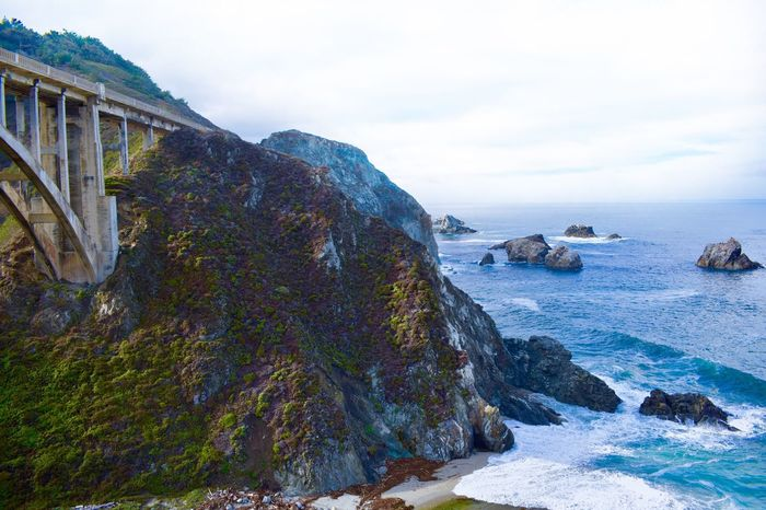 Big Sur, California Nature Sea Scenics Beauty In Nature Tranquility Outdoors Horizon Over Water Architecture Connection Transportation Been There. Lost In The Landscape Big Sur, California. Big Sur CALIFORNIA Ocean View Oceanside Connected By Travel Big Sur Built Structure Unique Perspectives Cliff Rock Formation Bridge - Man Made Structure