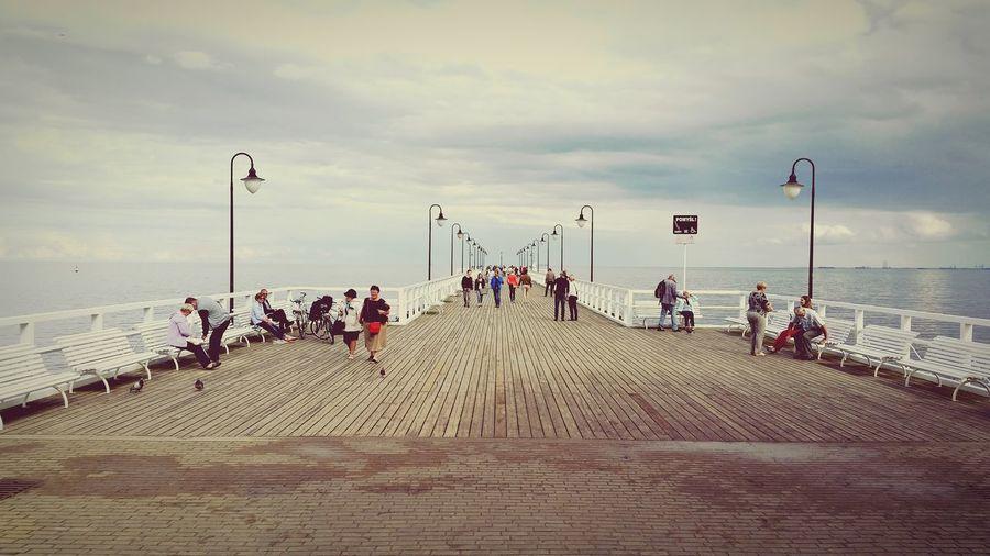 Baltic Sea, people Pier In Gdynia