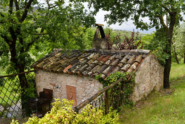Architecture Built Structure Campello Sul Clitunno Italy Landscape Old Roof Tiles Rural Scene