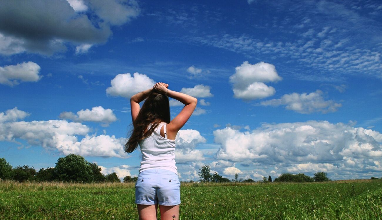 Sky Cloud - Sky Day Nature Person Lifestyles Russia Russian Girl RussianBlue Summer Summer2016 Young First Eyeem Photo