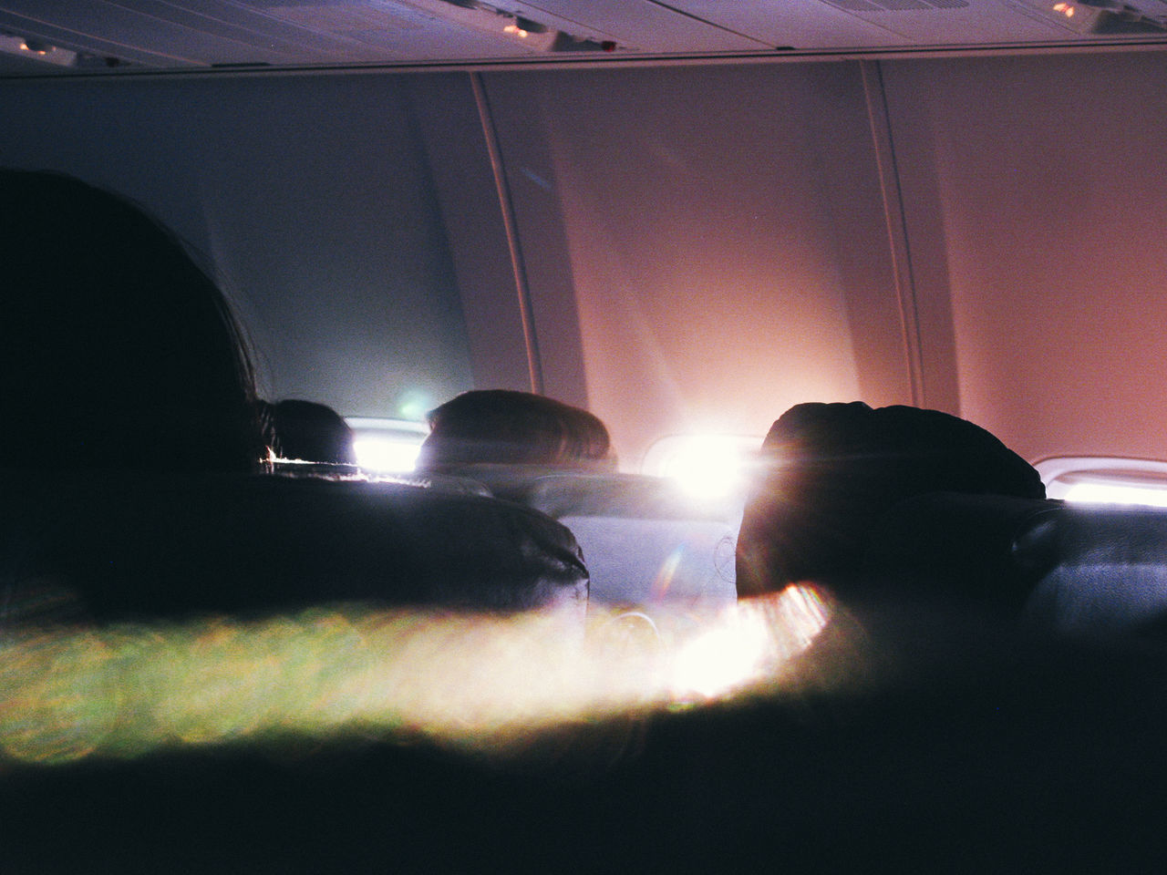 Traveling Home For The Holidays Silhouette People Indoors  Technology Airplane Fly Window Sun Sunrise Travel Light Flare