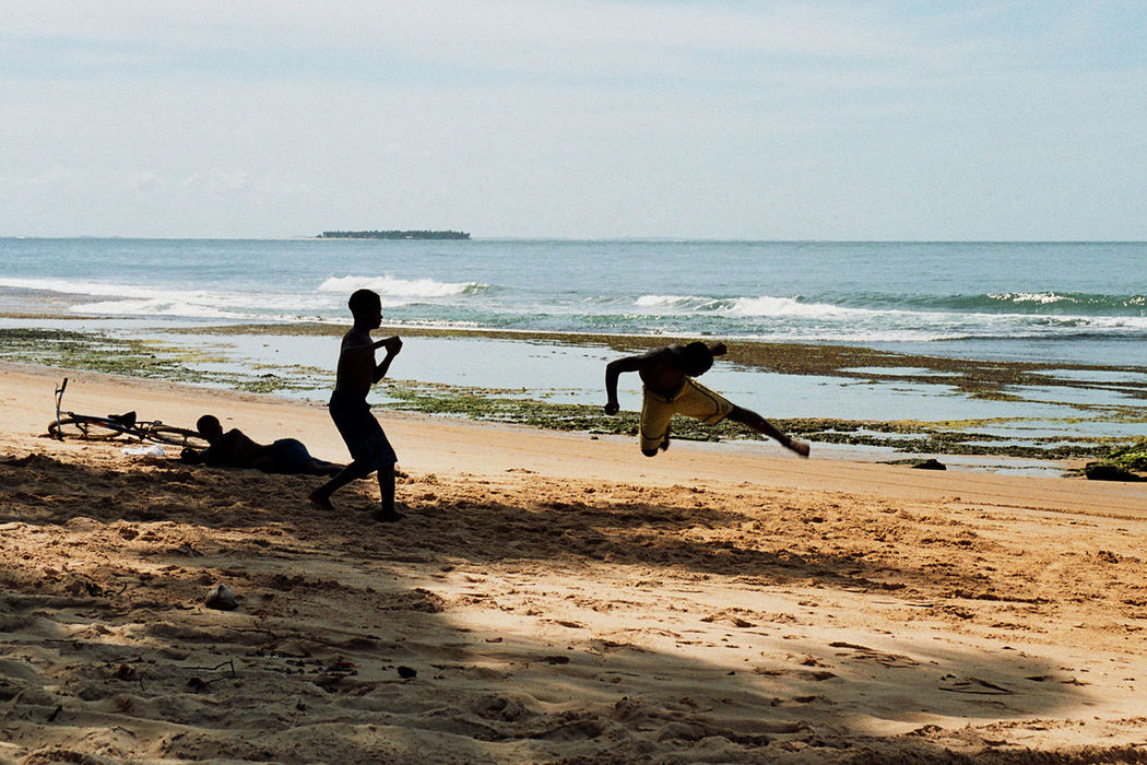 Brasil Capoeira Beach Young Boy