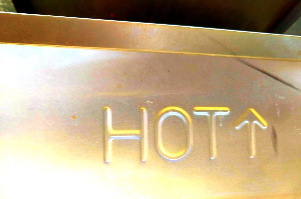 Hot Graphic Design No People Text Close-up Minimalist Photography  Metal Things STAINLESSSTEEL Warning! Minimalism