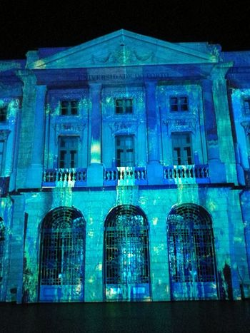 Universidade do Porto Architecture Night Building Exterior Illuminated Built Structure No People Nightlife Porto Porto Portugal 🇵🇹 Portugal Purist No Edit No Filter Travel Destinations City Street Light