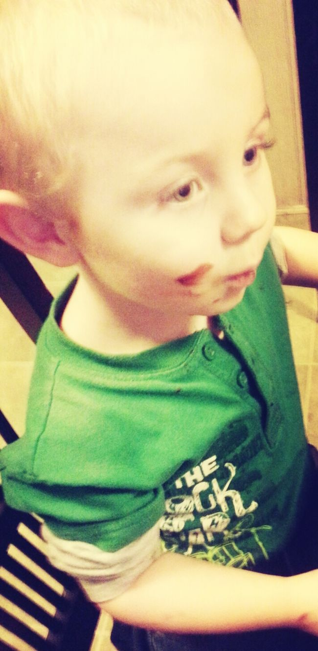 Someone gots chocolate all over hims :)) Quality Time My World ♥ Enjoying Life MyLove❤