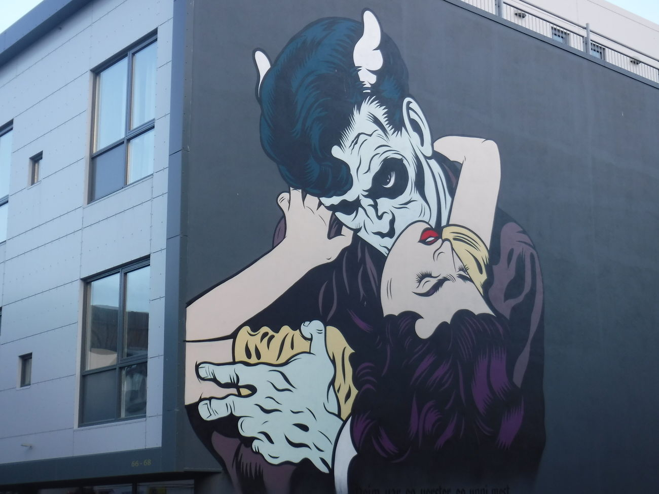 Art work in downtown Reykjavik A Amazing ArtWork Building Exterior Dracula Drawing - Art Product Horror Human Body Part Outdoors Reykjavik Spooky Studio Shot Vampire Art Is Everywhere