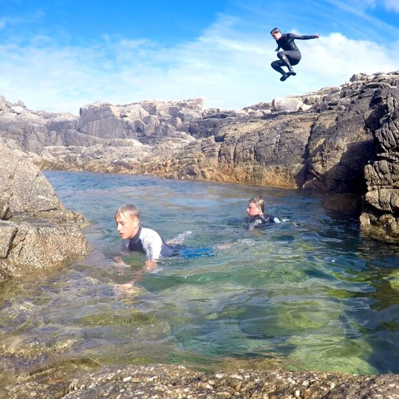 Shipman head cove Water EyeEm Best Shots Fun Enjoyment Jump Leisure Activity CliffJumping Billabong Rock - Object Tranquil Scene Scenics Vacations