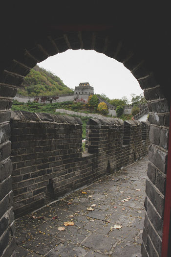 China wall Ancient Arch Architecture Built Structure China China Wall Damaged Day History No People Old Ruin The Past Tunnel