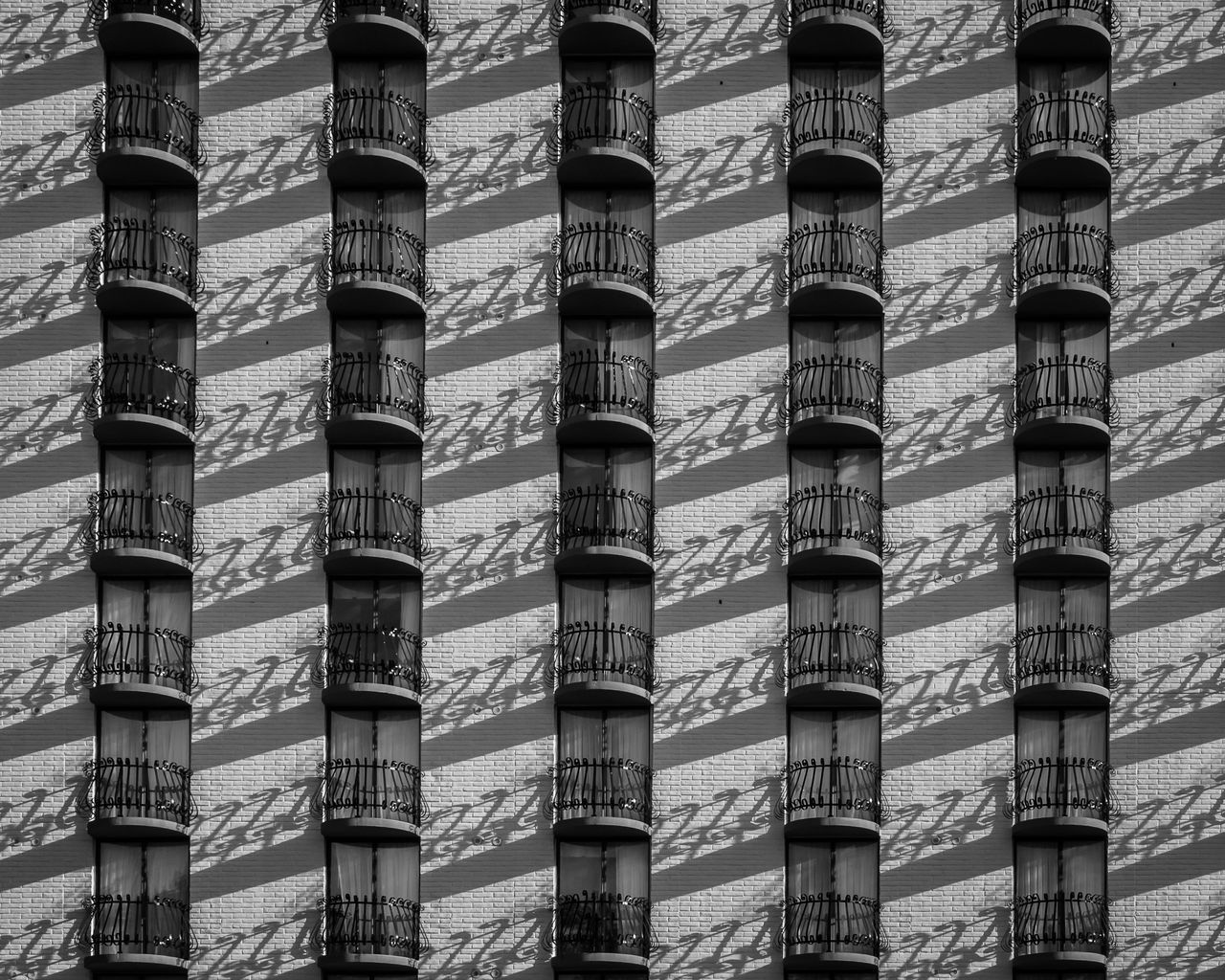 Abstract Architecture Backgrounds Balcony Building Building Exterior Built Structure Composition Contrast Copy Space Day Full Frame Low Angle View No People Outdoors Pattern Shadow