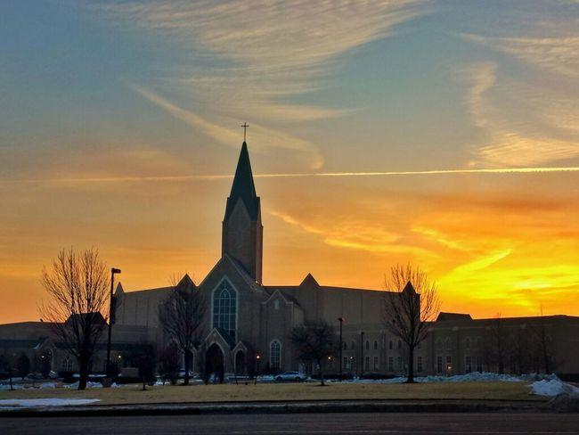 A Beautiful Sunrise behind the church ?? Eye4photography  EyeEm Best Shots - Sunsets + Sunrise Eyeemclouds EyeEm Nature Lover