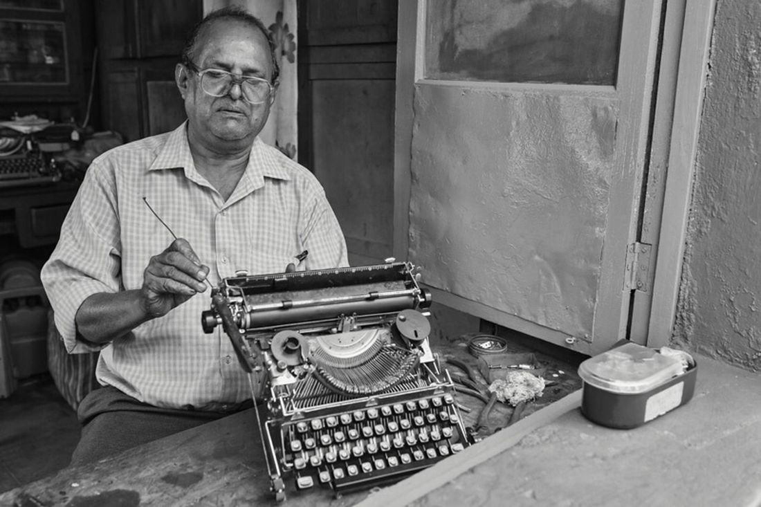 So my Magnum photo workshop with Richard Kalvar (i had to write this once) started today and I decided to go after the story of repair men in Goa. The spark came when I met this guy. Maybe the last repair man of typewriters in Goa. Couldn't be happier that he allowed me to stay for one whole afternoon. The Human Condition Traveling Portrait EyeEm Best Shots Shootermag The Photojournalist - 2015 EyeEm Awards
