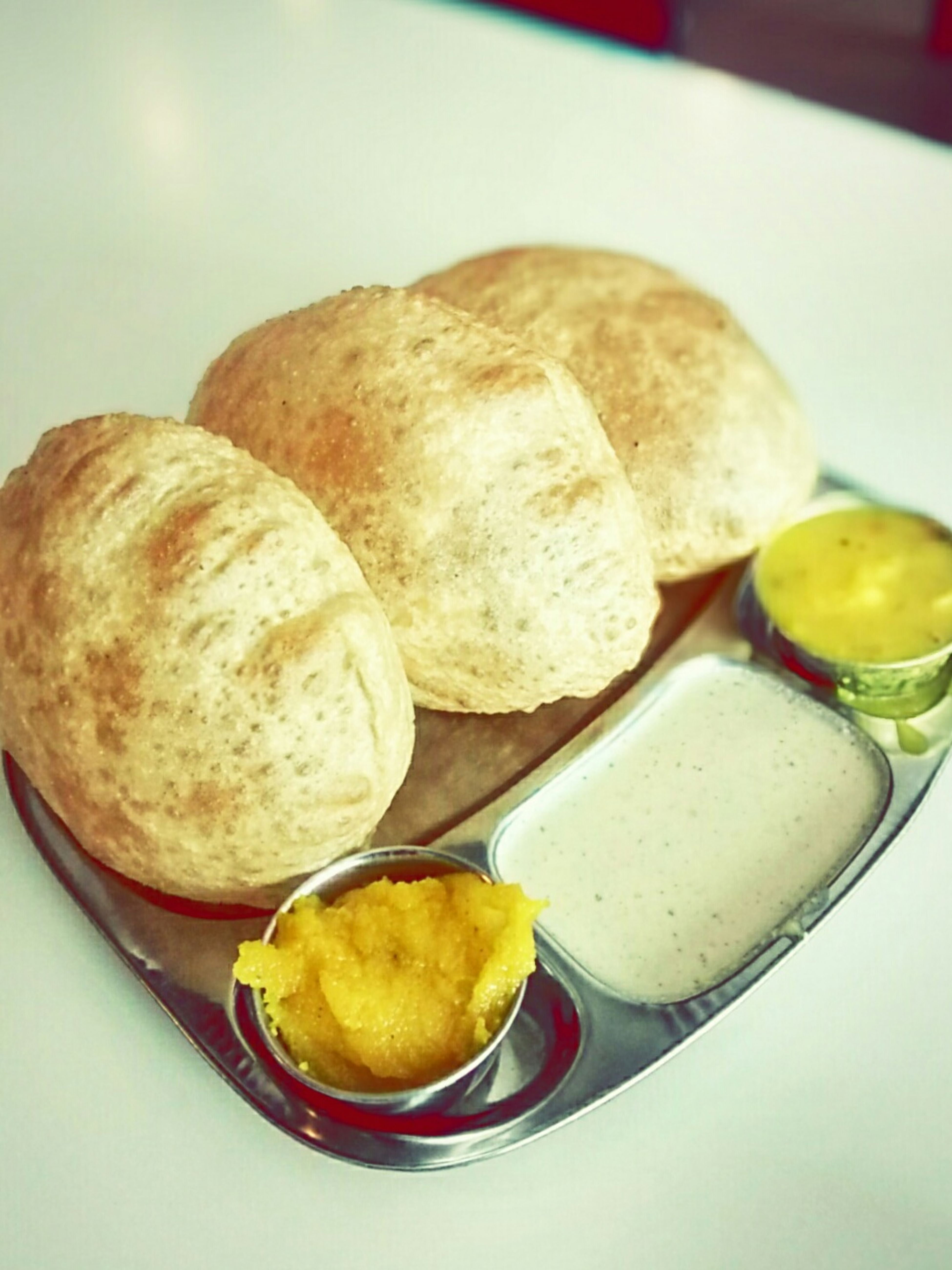 Show Us Your Takeaway! Indianfood Purisabji Puriaaloo Poorihalwa Poorichutney Garampoori Yummypoori