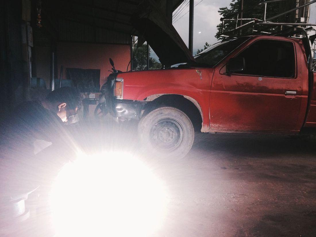 Red 🚗 Lights In The Dark
