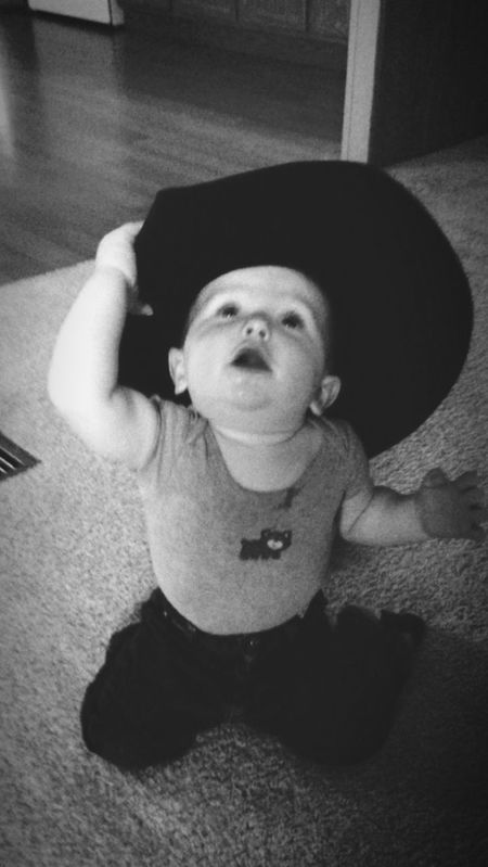 Taking Photos We Are Family Nephew  Little Cowboy Cowboy Hat Babysitting Love Enjoying Life Lovethiskid
