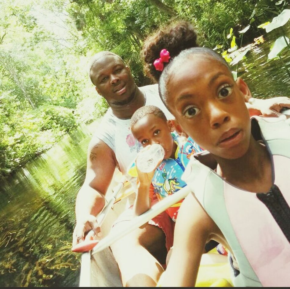 The look when your about to crash!! Wekivasprings Canoeing
