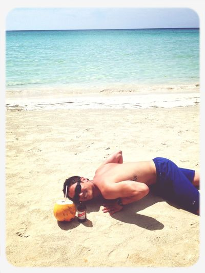 andrew on the beach