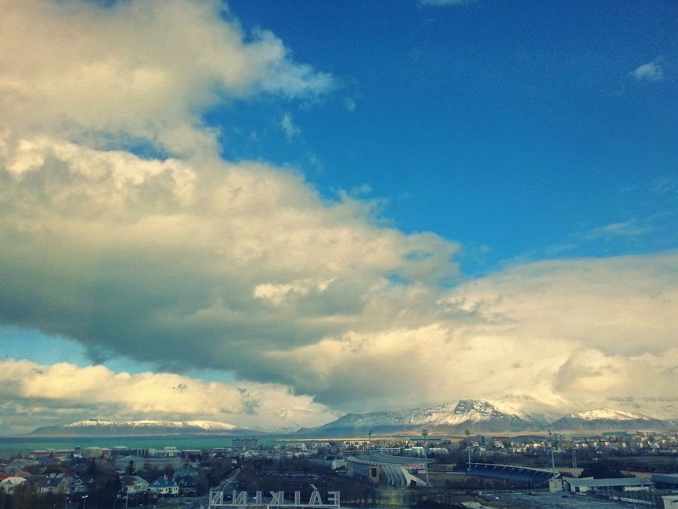 That's a room with a view. .. Mountains Sea Reykjavik Iceland