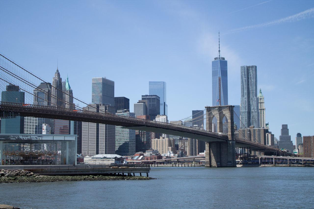 Beautiful stock photos of bridge, Architecture, Bridge - Man Made Structure, Brooklyn Bridge, Building Exterior