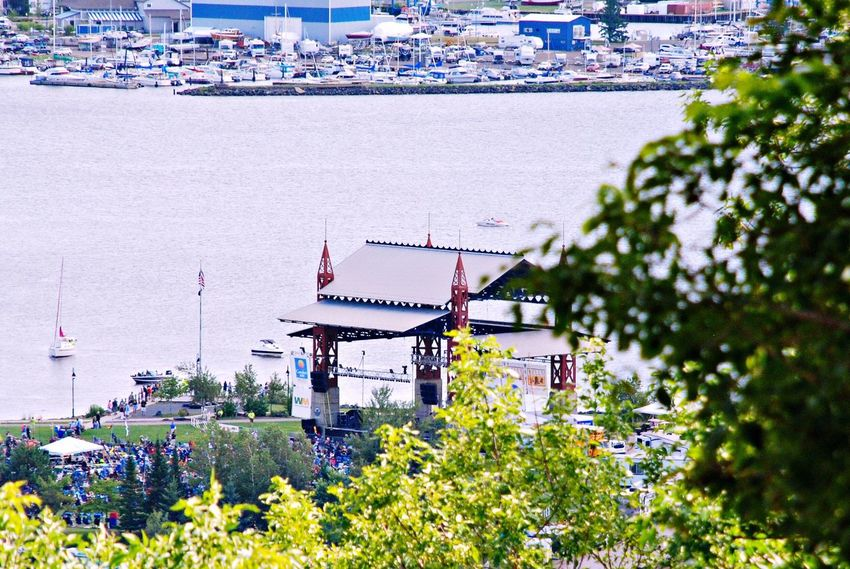 Bayfront Festival Park, Bluesfest Music Event, 2016, Duluth, MN, US Lake Superior Waterscape Landscape