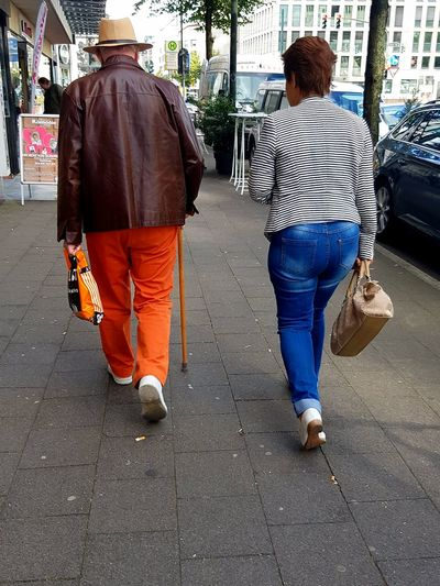 Portrait Rear View Person People People Photography People Walking  People On The Street People_collection Street Life City Street City Life Two People Two Persons Walking Lifestyles Togetherness Sunny Day Love Day Walking Stick Walking On The Street Walking Together Couple Walking Galaxy S7 Edge