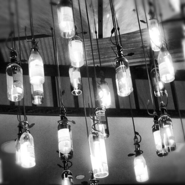 Hung Out To Shine Hanging Pizza Cool Bottles Nevada Lasvegas Winebotttle Lightshade Grimaldi