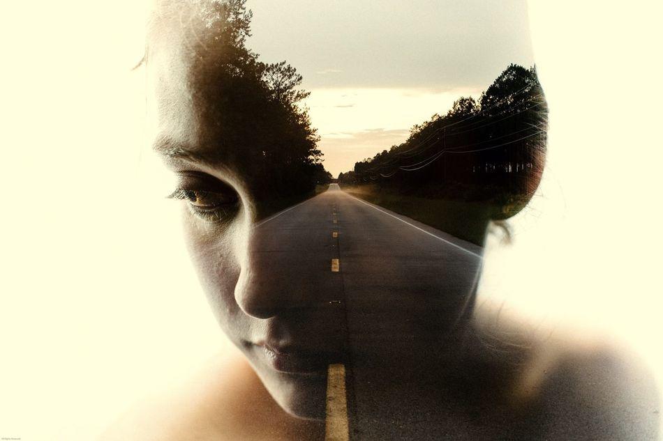 Lost highway. Double Exposure The Portraitist - 2015 EyeEm Awards The Traveler - 2015 EyeEm Awards