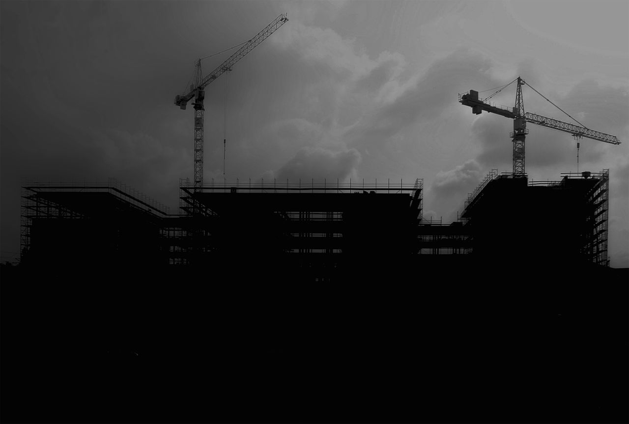 Monochrome Blackandwhite Construction Light And Shadow