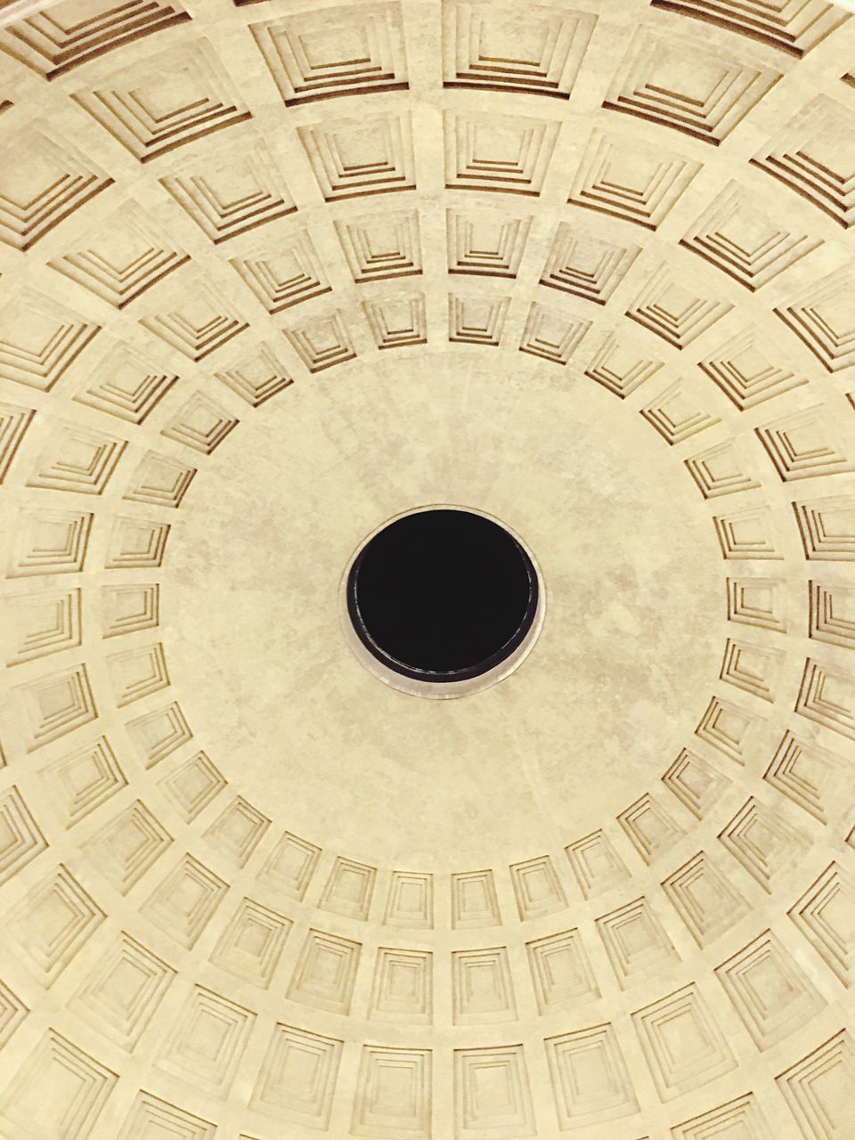 circle, backgrounds, full frame, architecture, indoors, low angle view, no people, built structure, dome, cupola, day