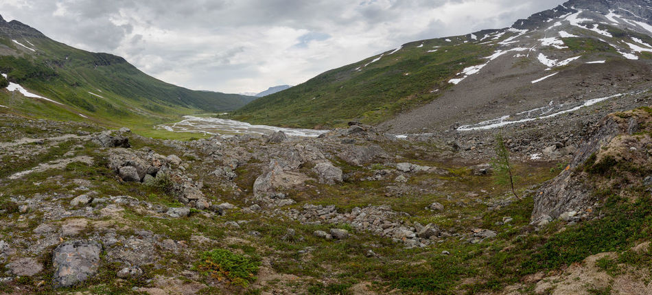 Beauty In Nature Clouds Clous And Sky Glacier River Green Landscape Mountain Mountain Range Nature No People Northern Norway Norway Panorama Remote River Rock Rocks Snow Steindalsbreen Nature's Diversities The Great Outdoors - 2016 EyeEm Awards Ice Age