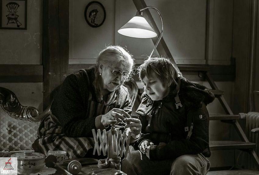 We Are Family Grandma Grandson Lowlight Blackandwhite Canon Photography Canon5dmarkiii