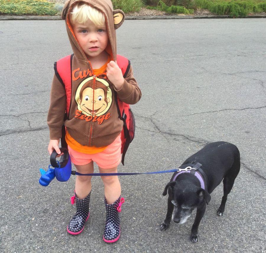Little Blond Girl Cute Strange Misery Grim Play Autumn Childhood Outdoors Portrait No Smile Dog Blond Hair Rainboots Little Black Dog This Week On Eyeem in Sonoma County CA Santa Rosa