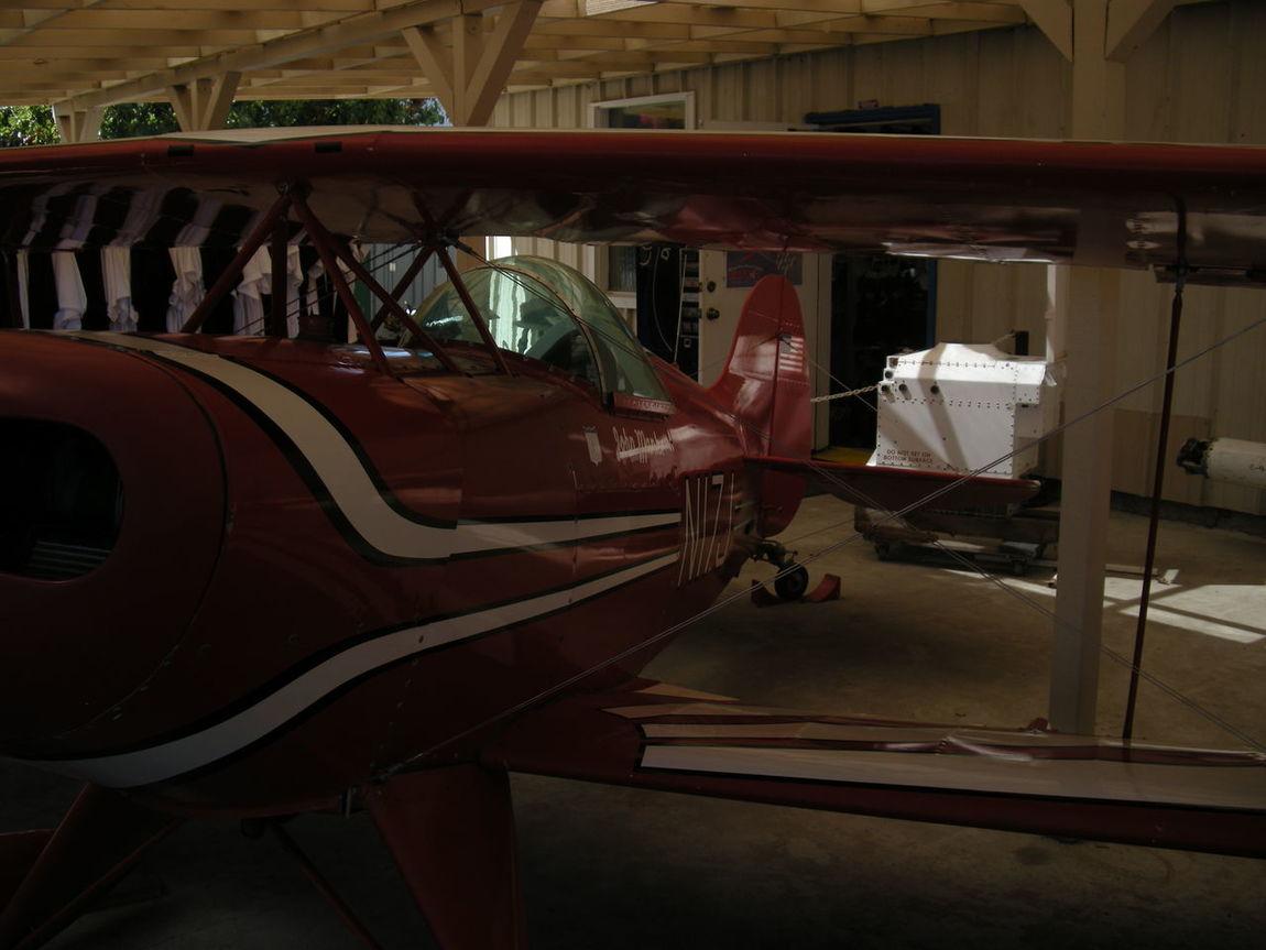 Airplane Day Hangar Illuminated Indoors  No People Plane Prop Plane