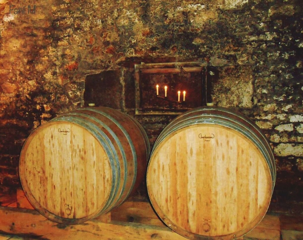 Taking Photos From My Point Of View Eye4photography  Taking Pictures Eyeemphotography EyeEm Gallery Barrels Wine Cellar Candles EyeEm Wooden Barrel Cellar Wine Time Wine Stone Wall Close-up Old Wooden Made Of Wood Barrel Color Palette Colour Of Life,