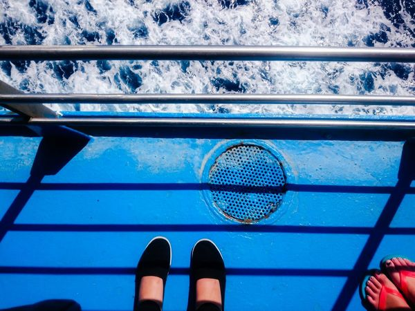 Blue Showcase July Enjoying Life Traveling Mediterranean  Mediterranean Sea Ocean Ocean View Travel Destinations Hidden Gems  Sicily Outdoors Pivotal IdeasTranquility EyeemphotoPeople Together Ferry Boat Ferry Blue Hour Feet Feets Water Sea Ship Colour Of Life Let's Go. Together. Sommergefühle