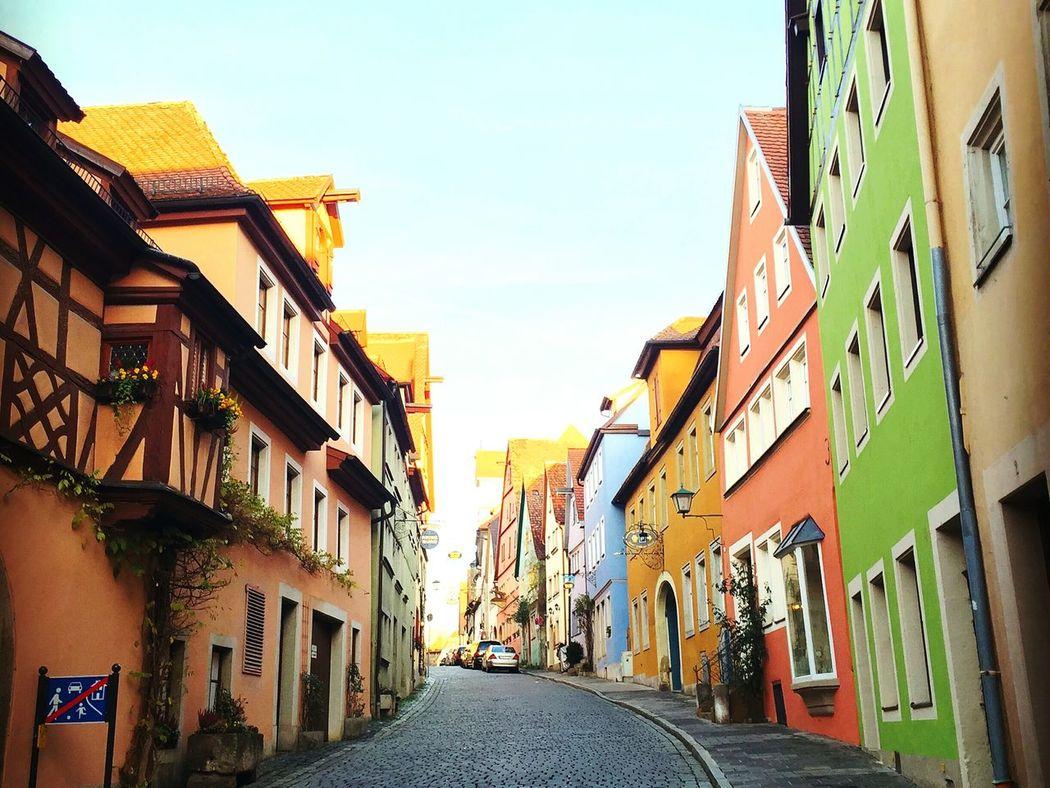 カラフルな家 Building Exterior House Street Alley Cityscape Colorful Rothenberg Germany🇩🇪
