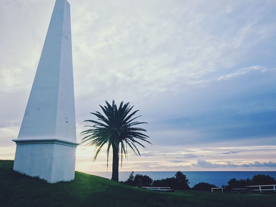 The obelisk Sky Cloud - Sky Tree Nature Outdoors Sunset No People Built Structure Beauty In Nature Landscape Architecture Day Beautiful Beachphotography Beach Life Australia Clouds And Sky Scenics Beauty In Nature Nature Sky And Clouds Waterfront Architecture Low Angle View Blue Sky