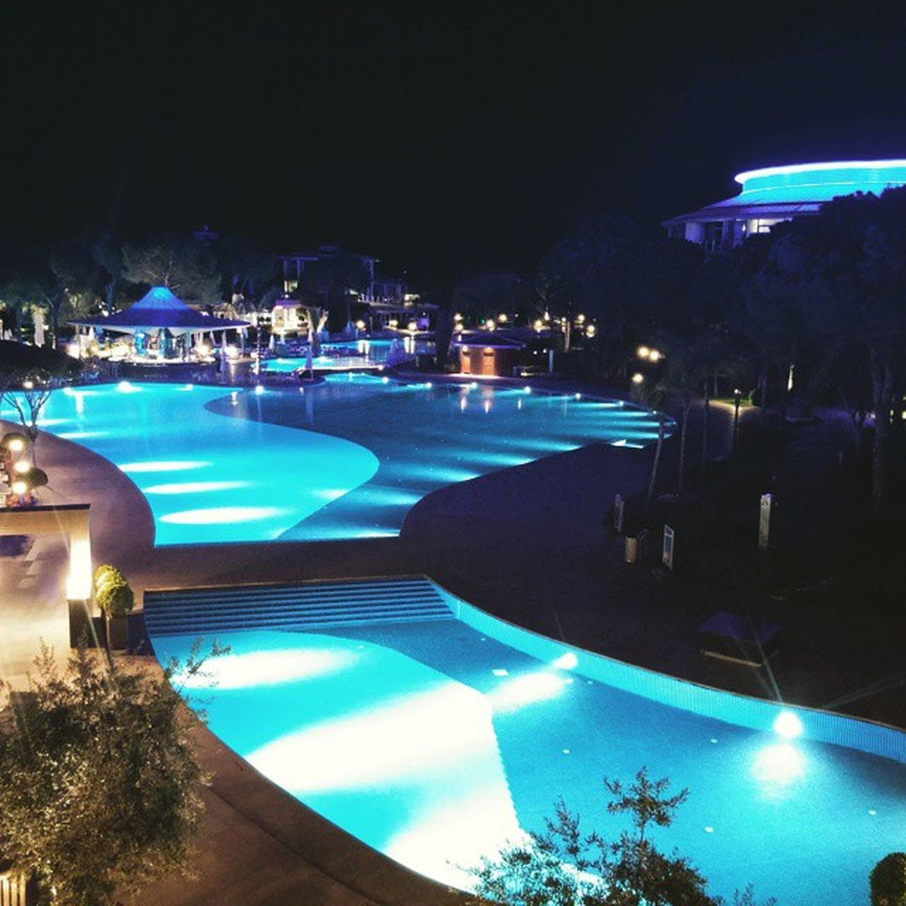 Antalya Belek Pool Calista Light Night Dark Blue Turkuaz
