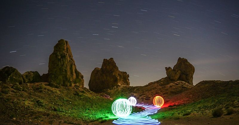 Light Painting Light Trails Long Exposure Long Exposure Night Photography Light Orbs Trona Pinnacles Trona, CA Trona California California Dreaming Californiaadventures