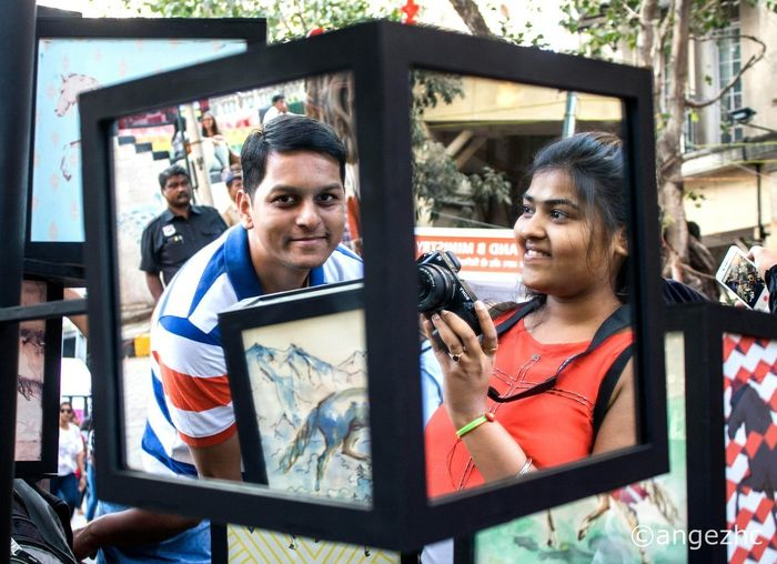 When your friends are trapped inside a mirror, click it Two People Lifestyles Portrait Creative Photography Lovephotography  Photography Photooftheday Photo Illusionist Kalaghoda Photographer Photographers Canon_official Canon Canonphotography Canon6d Awesome Wonderful Perfect Shot Perfect View Love People Arts Culture And Entertainment Outdoors Built Structure EyeEmNewHere