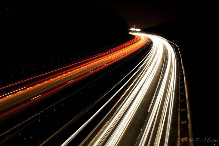 Feel The Journey Light Trails At Night🌙 Motorway Art Meinautomoment