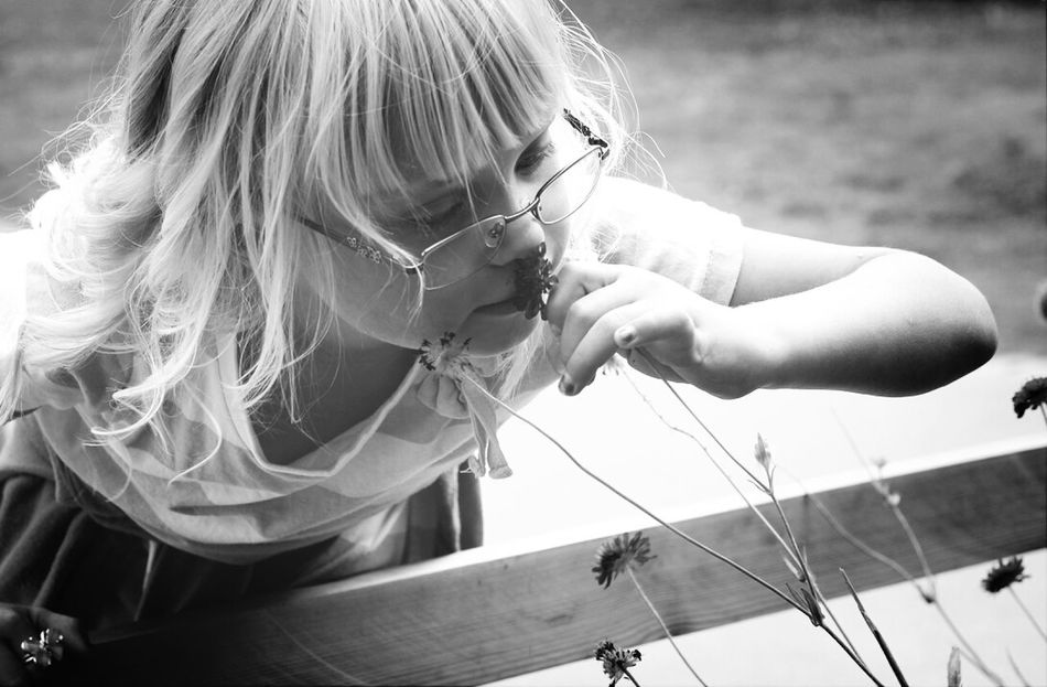 Beautiful stock photos of glasses, Blonde Hair, Childhood, Children, Close-Up