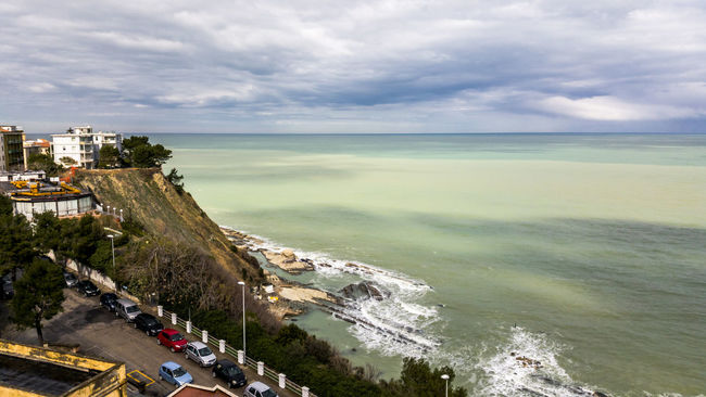 Ancona Beauty In Nature Cloud Cloud - Sky Cloudy Coastline Day Horizon Over Water Idyllic Italia Nature No People Non-urban Scene Ocean Outdoors Overcast Remote Scenics Sea Shore Sky Tranquil Scene Tranquility Water Weather