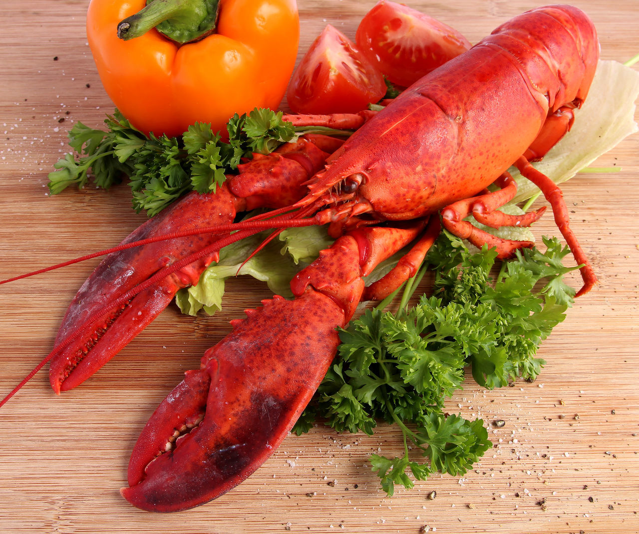 Beautiful stock photos of lobster, food and drink, food, freshness, wood - material