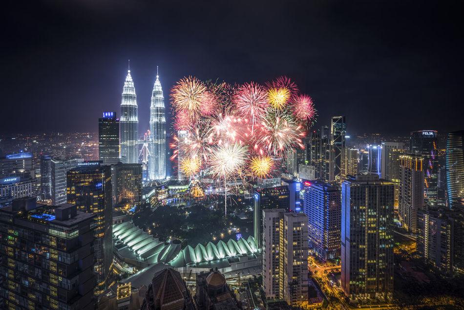 Beautiful stock photos of feuerwerk, illuminated, night, city, cityscape