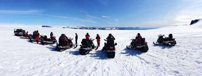Fun Island Snow Glacier Vatnajokull Vatnajökull Volcano Snowbike Showcase: January