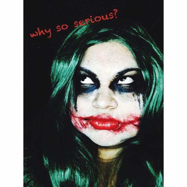 Halloweeen Joker Makeup Favoriteholiday Blackeyeshadow Batman Green Wig