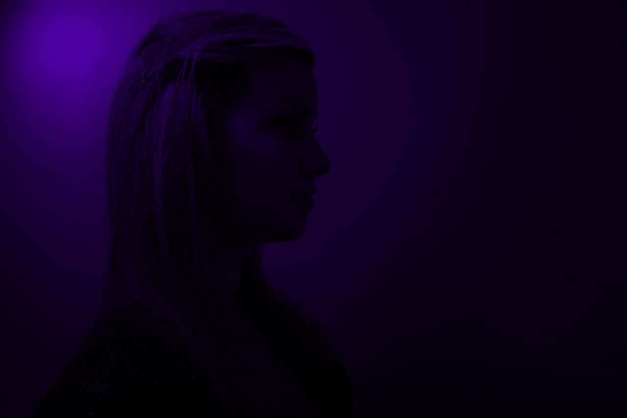 Ultra Violet // Sony a6000 // Beautiful People Close-up Dark EyeEm Best Edits EyeEm Best Shots EyeEm Gallery EyeEmBestPics Futuristic Girl Headshot Light And Shadow Lighting Millenial One Person One Woman Only Portrait Purple Silhouette Sony A6000 Studio Shot This Week On Eyeem Women